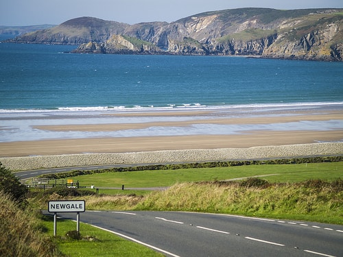 Newgale as you drive to Solva